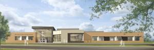 Rendering of EEC Notre Dame de la Huronie Elementary School